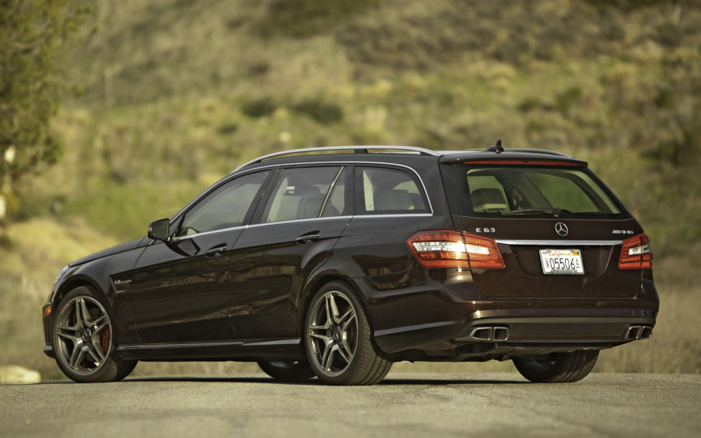 2012-Mercedes-Benz-E63-AMG-Wagon-rear-three-quarters