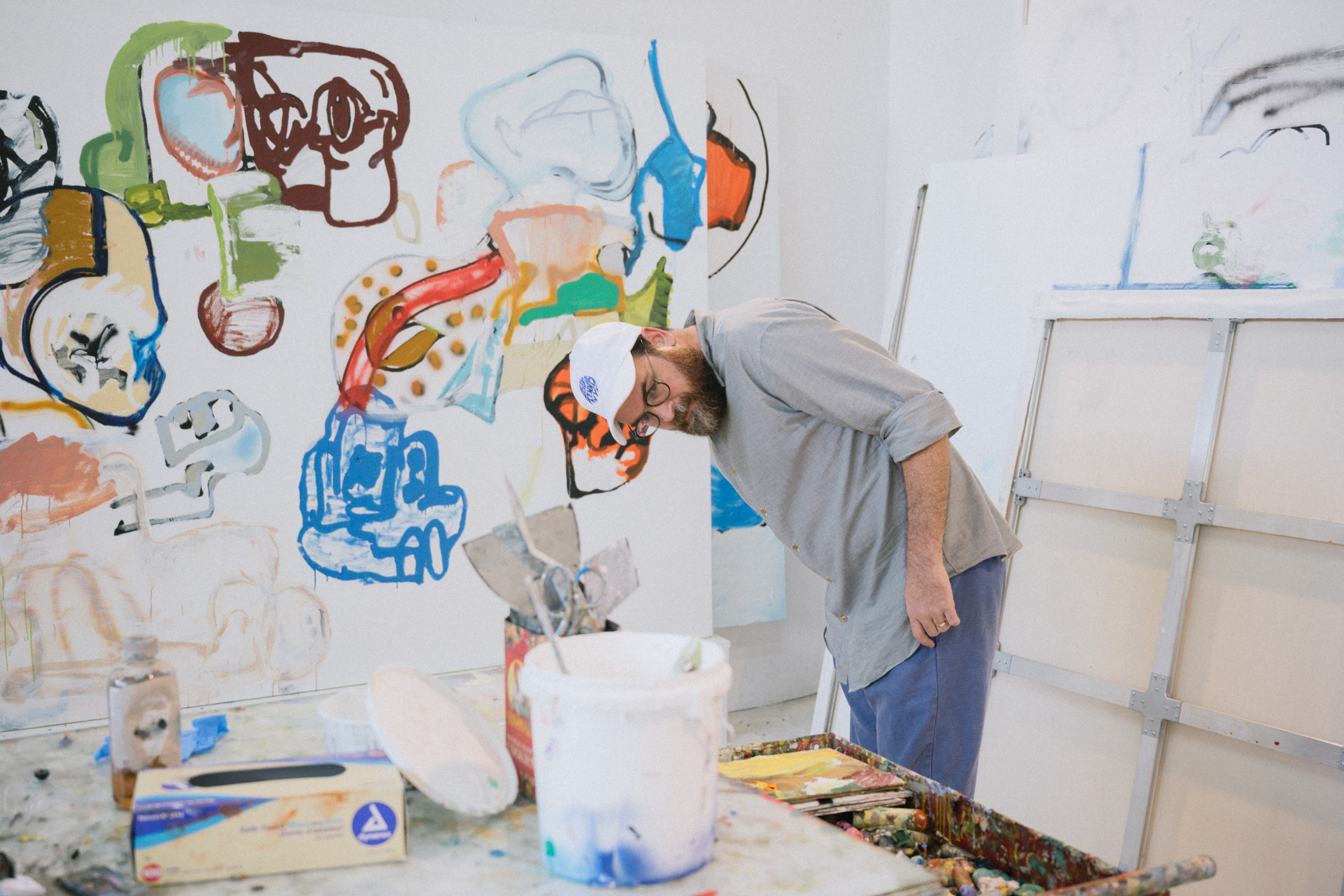 Eddie Martinez in his Studio