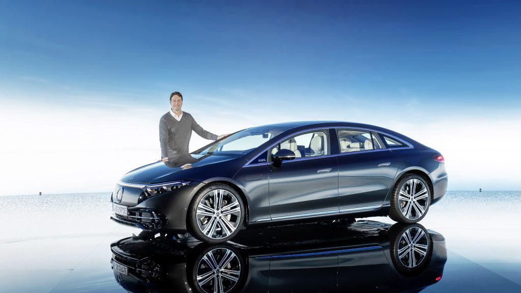 Der neue EQS, präsentiert von Ola Källenius; Ola Källenius, Vorsitzender des Vorstands der Daimler AG und Mercedes-Benz AG. The new EQS, presented by Ola Källenius; Ola Källenius, Chairman of the Board of Management of Daimler AG and Mercedes-Benz AG.